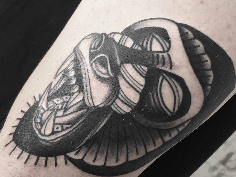 Black Monkey Tattoo by Andrik Kopernikus