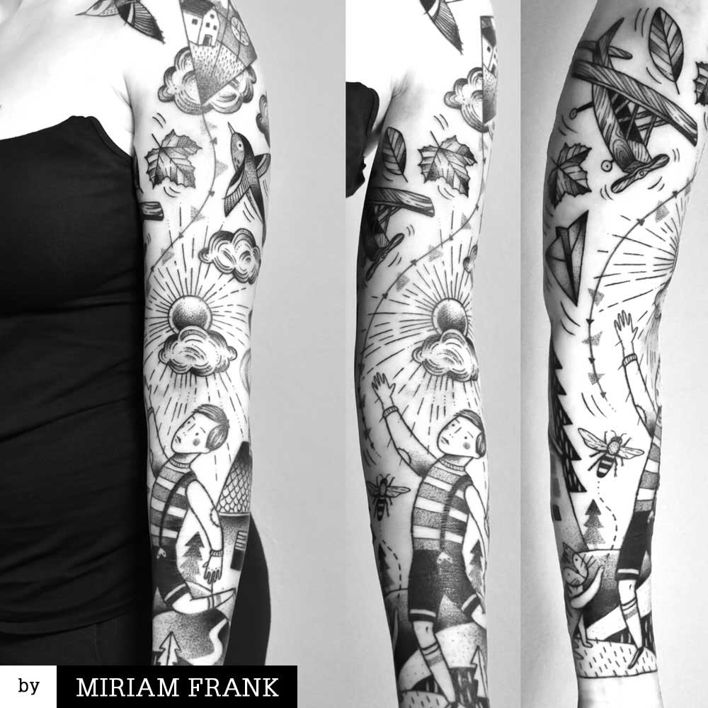 Air themed sleeve by Miriam Frank