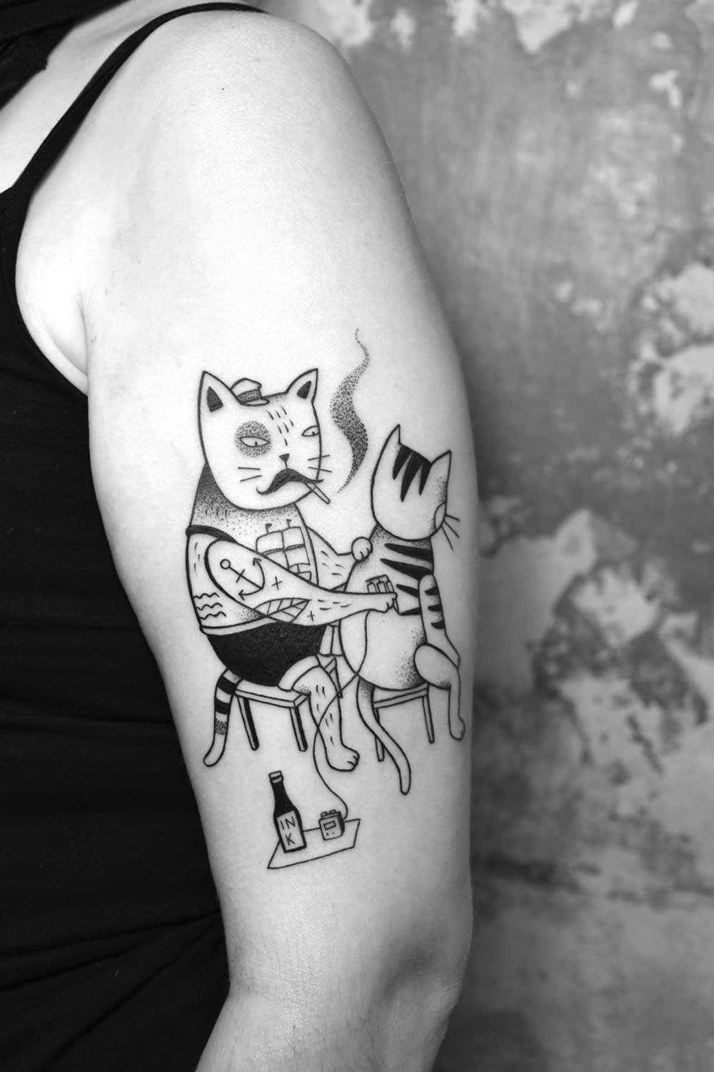 Tattooing Cat by Miriam Frank