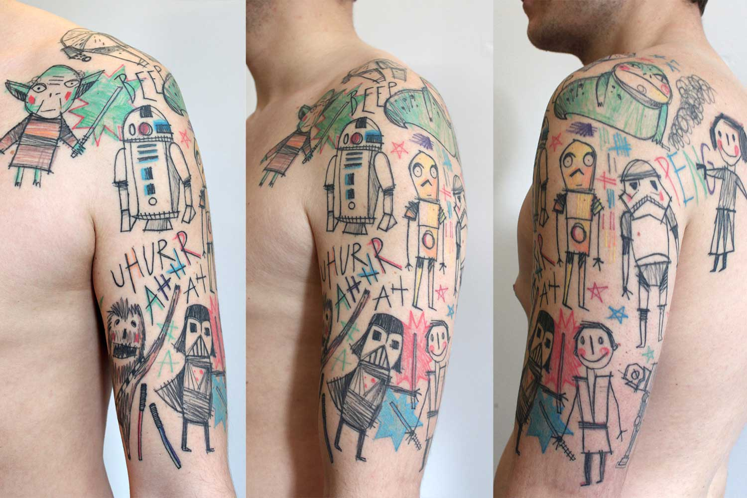 Starwars tattoo by Miriam Frank