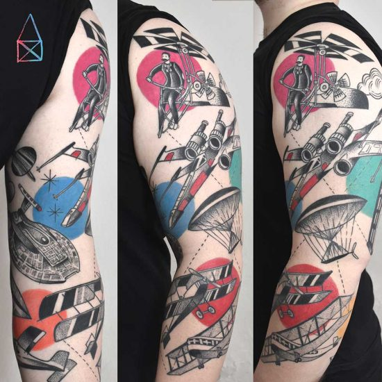 Airplane Sleeve by Miriam Frank