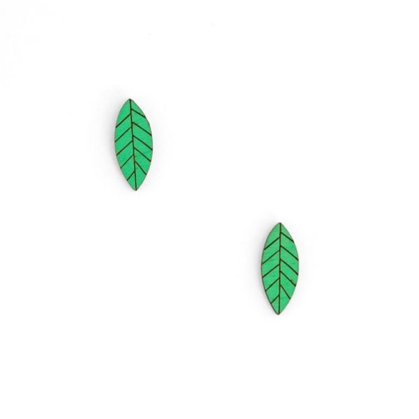 Leaf Earring by Miriam Frank
