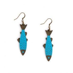 Fish Earring by Miriam Frank