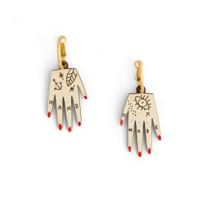 Hand Earring by Miriam Frank