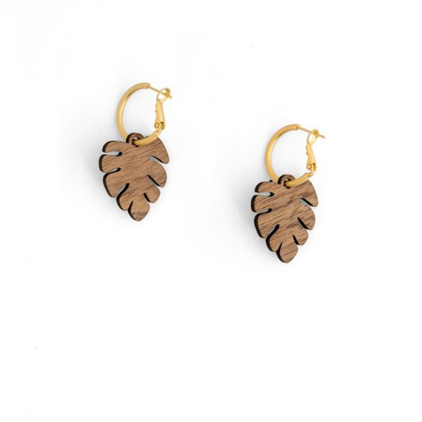 Monstera Leaf Earring by Miriam Frank