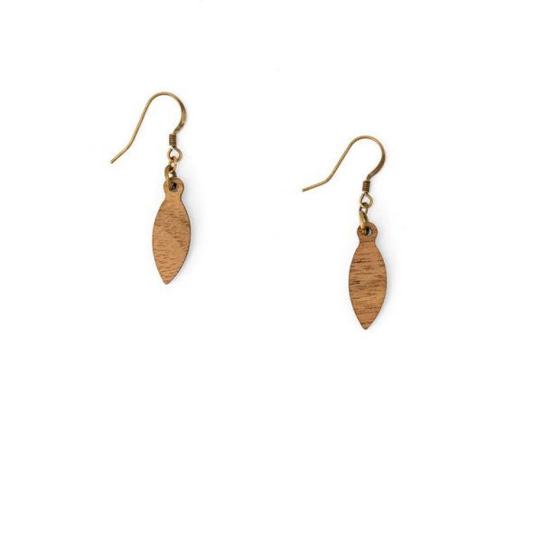 Swinging Leaf Earring by Miriam Frank