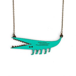 Crocodile Necklace by Miriam Frank