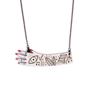 Hand Necklace by Miriam Frank