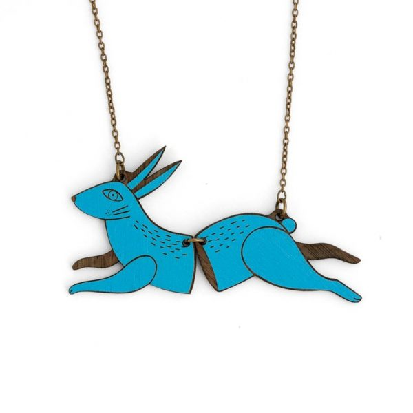 Running Rabbit Necklace by Miriam Frank