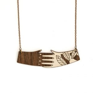 Hands Necklace by Miriam Frank