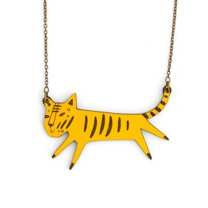 Tiger Necklace by Miriam Frank
