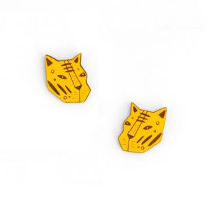 Earring Tiger by Miriam Frank